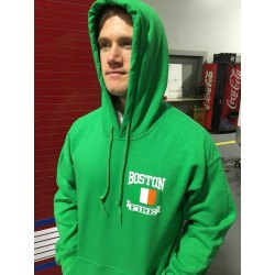 Irish Green Irish Flag Hooded Sweatshirt