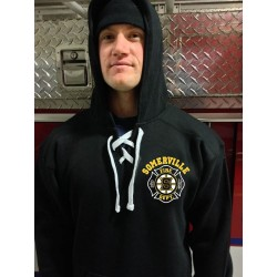 Somerville Fire - Old Style Lace Up Hooded Sweatshirt - Hockey