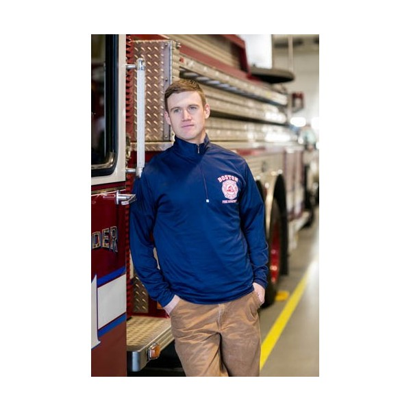 Boston Fire Landmark Moisture Wicking ¼ Zip Pullover