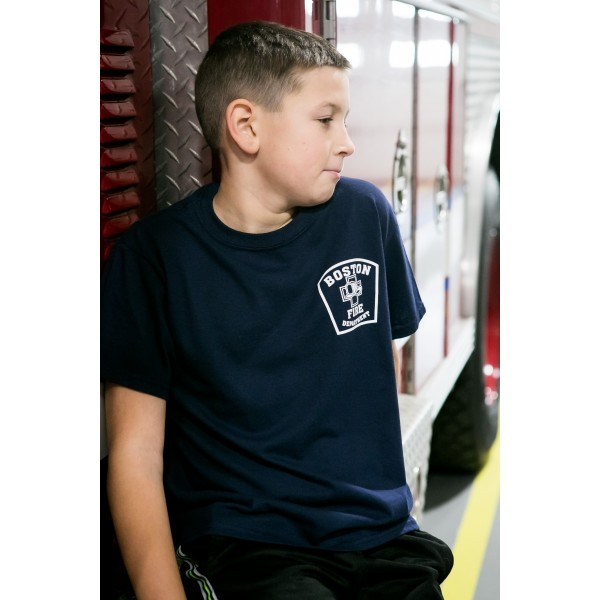 Youth Navy Blue Short Sleeve Shirt - Station