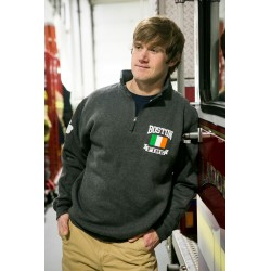 "Irish Flag + Shamrock - 1/4"" Zip Sweatshirts"