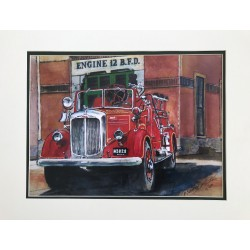 Engine 12 Painting by Retired Boston Fire Commissioner Paul Christian