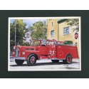 Engine 21 Painting by Retired Boston Fire Commissioner Paul Christian
