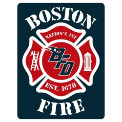 "4"" Window Decals Boston Fire Football"