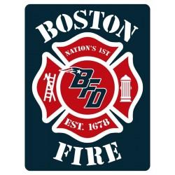 "4"" Window Decals Boston Fire Football"