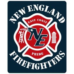 "4"" Window Decals New England Firefighters Football"