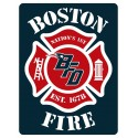 "3"" Helmet Decals Boston Fire Football"