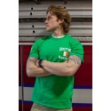 Green Irish Flag + Shamrock - Short Sleeve T-Shirt
