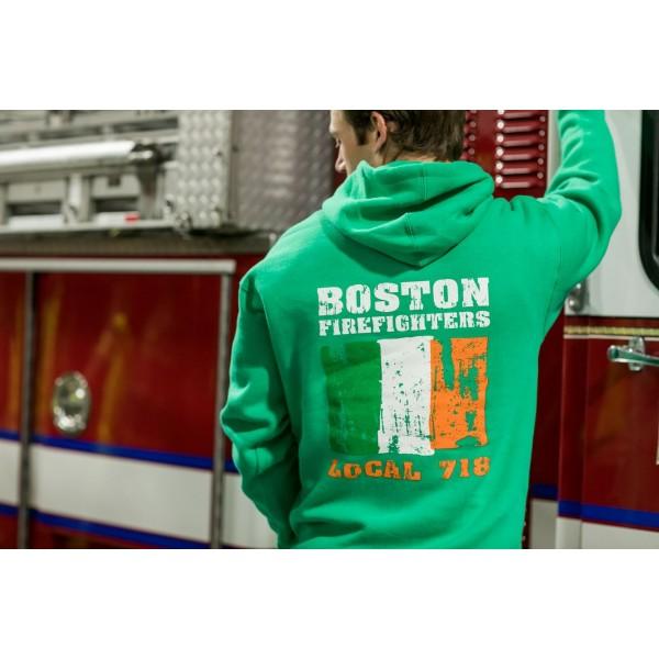 Boston Firefighters Irish Local 718 Hooded Sweatshirt