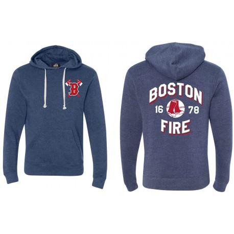 Boston Fire Baseball 1678 - Pullover Fleece Hoodie