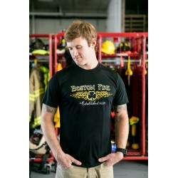 Boston Fire Celtic Cross Moisture Wicking Tee