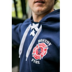 Boston Fire Football lace-up hooded sweatshirt