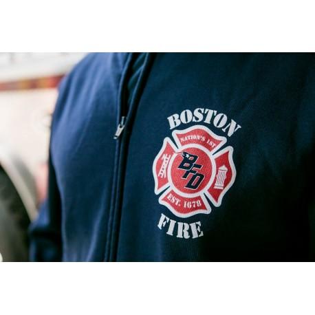 Boston Fire Football full-zip sweatshirt (no-hood)