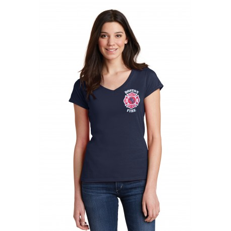 Boston Ladies V-Neck Short-Sleeve Tee