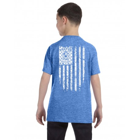 Youth BFD Distressed Flag Short-Sleeve Tee's