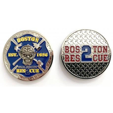 Boston Fire Rescue 2 Challenge Coin