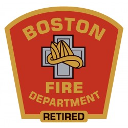 "4"" Window Decals Retired Boston Fire Department"