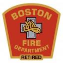 "4"" Window Decals Retired Boston Fire Department"