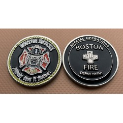 Boston Fire Rescue 1 Challenge Coin