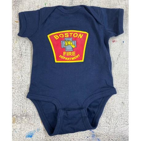 Boston Fire Colored Logo Onesie