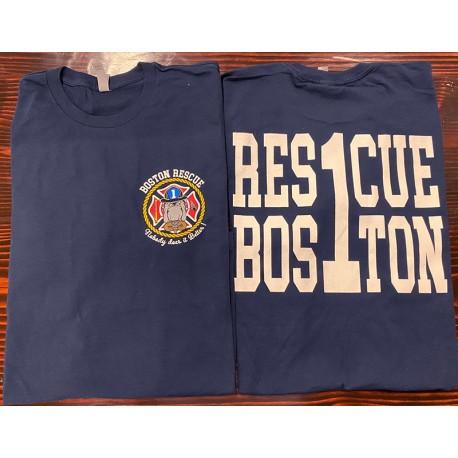 Boston Fire Rescue 1 Short-Sleeve Tee - Navy Blue