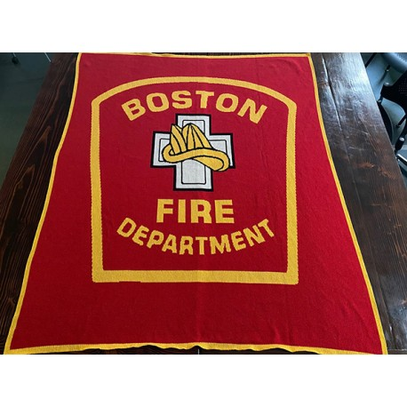 Boston Fire Department Knitted Blanket