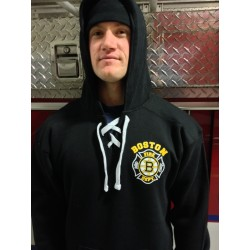 Old Style Lace Up Hooded Sweatshirt - Hockey