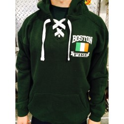 Irish Flag + Shamrock - Hockey Style Hoodies