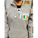 Irish Flag + Shamrock - Hockey Style Hoodies