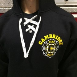 Cambridge Fire - Old Style Lace Up Hooded Sweatshirt - Hockey