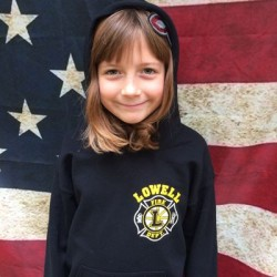 Lowell Fire - Youth Hooded Sweatshirt - Hockey