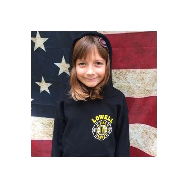 Lowell Fire - Youth Hooded Sweatshirt - Hockey
