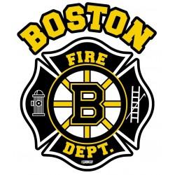 "2"" Helmet Decals Boston Fire Hockey"