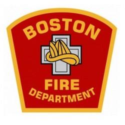 "4"" Window Decals Boston Fire Department"