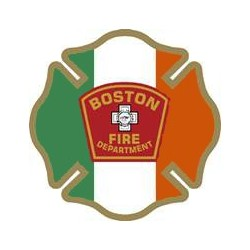 "4"" Window Decals Boston Fire Department - Irish"