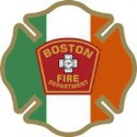 "2"" Helmet Decal Boston Fire Department - Irish - No Quantity Discount"