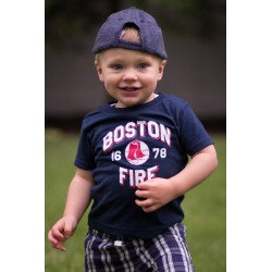 Boston Fire 1678 Baseball Navy Blue Tee's