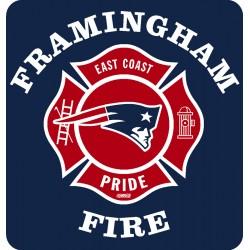 "Framingham 4"" Football Window Decal"