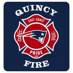 "Quincy 4"" Football Exterior Window Decal"