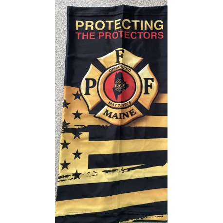 PFFM Adult + Youth Gaiters: Protecting The Protectors (gold flag)