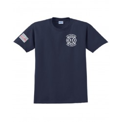 South Media Fire Dry Fit Short-Sleeves - Navy