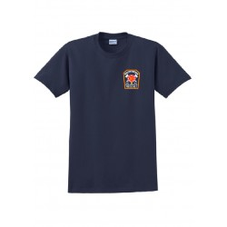 South Media Fire Station Dry Fit Short-Sleeves - Navy